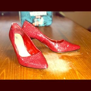 Cato red high heels 👠